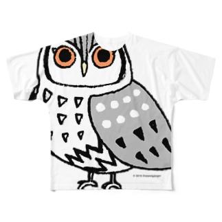 アフリカオオコノハズク Full graphic T-shirts