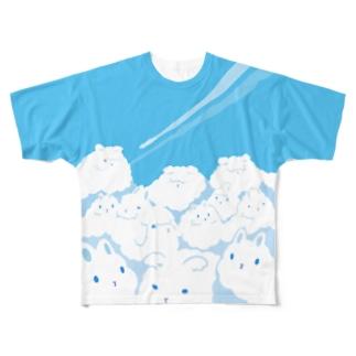 巨兎雲が来た Full graphic T-shirts