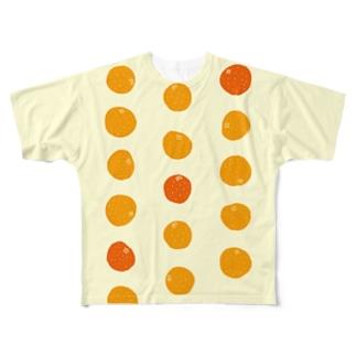 3つのオレンジが、濃い。 Full graphic T-shirts