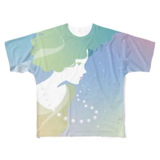 Qumi NishioのMiss ボサノバ Full graphic T-shirts