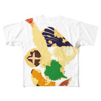 フォーリング天ぷら Full graphic T-shirts