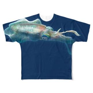 フルグラ☆アオリイカ【NV】 Full graphic T-shirts