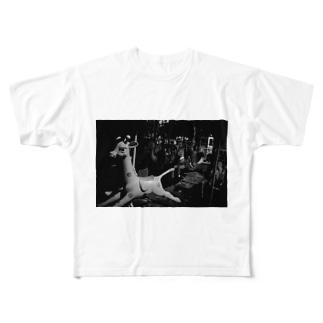 きりん Full graphic T-shirts