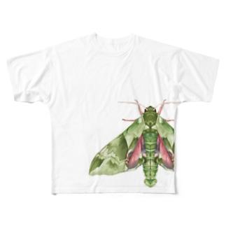 ウンモンスズメ Full graphic T-shirts