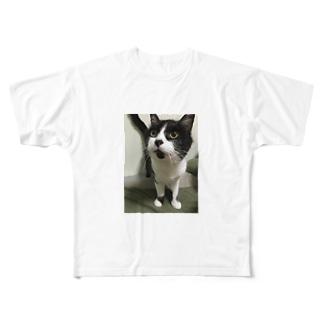 わしのねこ Full graphic T-shirts