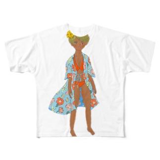 エンドレスサマー フィクション01 Full graphic T-shirts