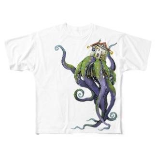 合理的な引きこもりのタコ Full graphic T-shirts