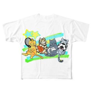 ネコリンピック✨球技 Full graphic T-shirts