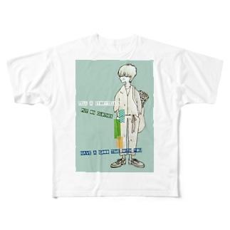 話をしよう💙 Full graphic T-shirts