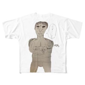 どすこい朗読者 Full graphic T-shirts