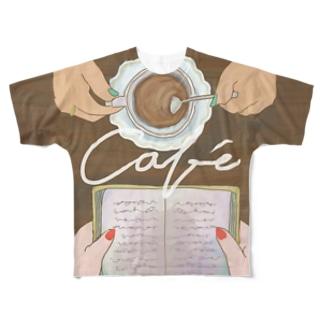 café Full graphic T-shirts