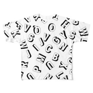 アルファベット Full graphic T-shirts