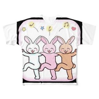 楽しき友 Full graphic T-shirts