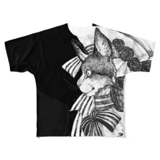 リボン猫 Full graphic T-shirts