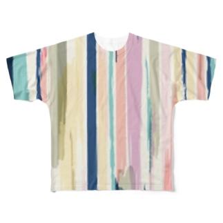ストライプ。 Full graphic T-shirts