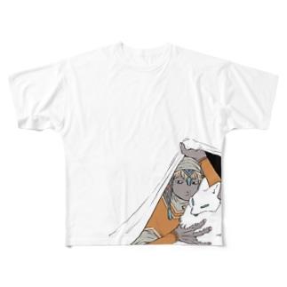 ホウロウとタコギツネ Full graphic T-shirts