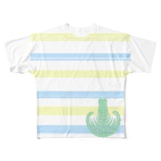 ジェラートラテアート /パイナップル×ブルーハワイ Full graphic T-shirts