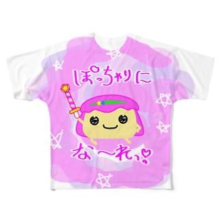 ポイズンマッシュルームアワー モモイロダケ Full graphic T-shirts