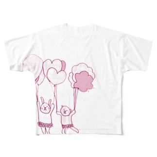 風船 Full graphic T-shirts