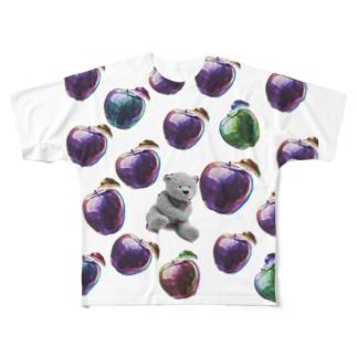 りんごのなかにくまを入れたら甘くなるよ Full graphic T-shirts