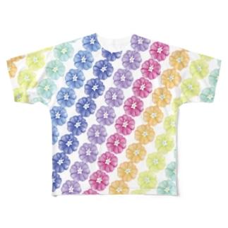 にじいろ Full graphic T-shirts
