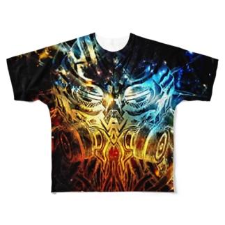 オクトパスヘルム Full graphic T-shirts
