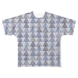 夜明けの三角形 Full graphic T-shirts