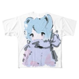 やわらかな氷柱 Full graphic T-shirts