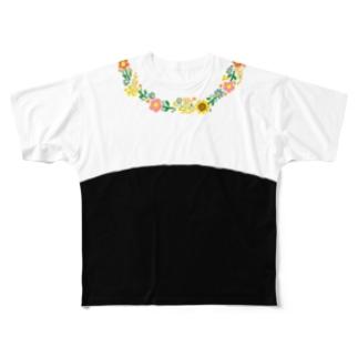 アイネっこのお店の花輪 Full graphic T-shirts