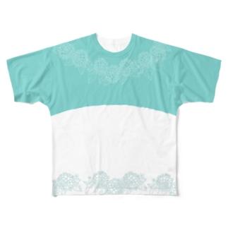 紫陽花 Full graphic T-shirts