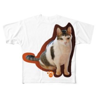どでかマロン・シリーズ Full graphic T-shirts