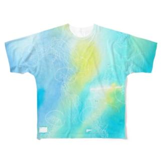 ばすてのギヤマンハナクラゲ*white Full graphic T-shirts