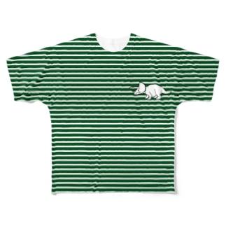 トリケラボーダー Full graphic T-shirts