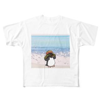 夏のイワペンくん Full graphic T-shirts