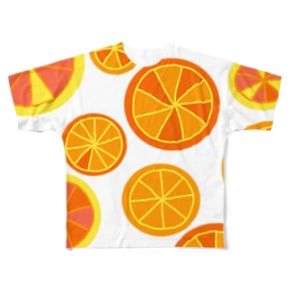 Orange Full graphic T-shirts