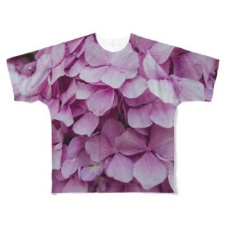 ajisai tee Full graphic T-shirts