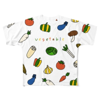 vegetable-野菜イラスト Full graphic T-shirts