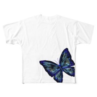 黒蝶S Full graphic T-shirts