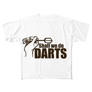 ダーツしよう Full graphic T-shirts