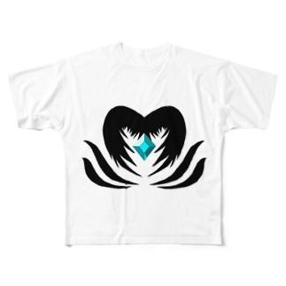 Isariショップのクリスタルを守る堕天使 Full graphic T-shirts