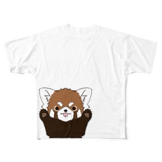 レッサーパンダ Full graphic T-shirts