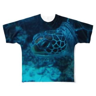 かめT Full graphic T-shirts