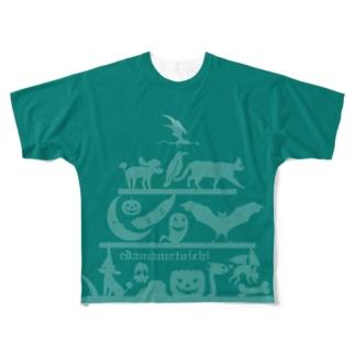 ハロウィン2 ピーコック Sサイズ用 両面 Full graphic T-shirts