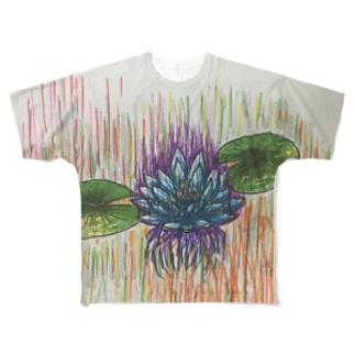 睡蓮 Full graphic T-shirts