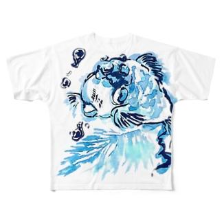 キン魚 Full graphic T-shirts