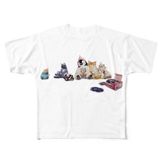みんなで昼寝 Full graphic T-shirts