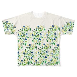 道端の花を纏って Full graphic T-shirts
