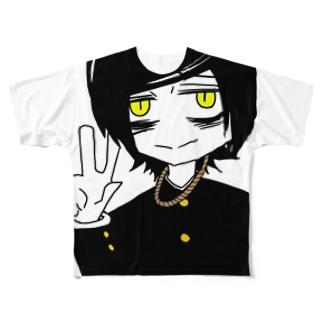 自殺ウィル Full graphic T-shirts