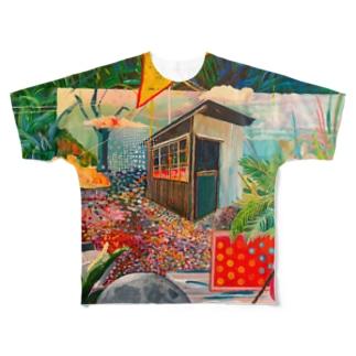 ふしぎなお家 Full graphic T-shirts