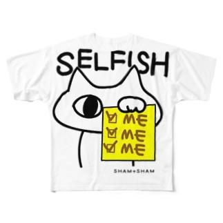 SELFISHねこやんか。 Full graphic T-shirts